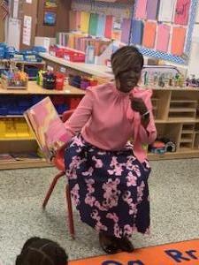 Ms. Scott reading to PreK